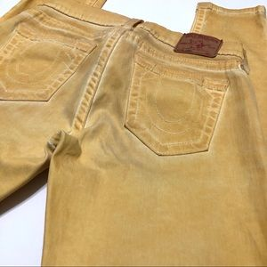 True Religion Yellow/Gold Casey Jeans Size 30